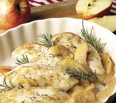 apple, mustard, and rosemary chicken.