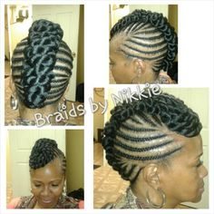 Big twist mohawk Cincinnati braids