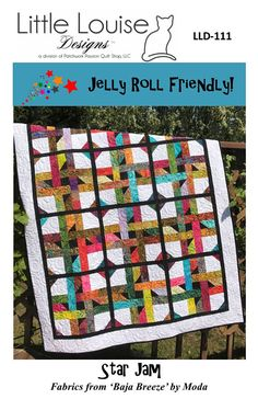 Jelly Roll  Quilt Pattern   Star Jam Quilt Pattern  Sizes Jelly Roll Quilt Patterns, Modern Quilt Patterns, Quilt Patterns Free, Quilt Blocks Easy, Strip Quilts, Halloween Quilt Kits, Diy Quilting For Beginners, Hand Quilting Designs, Log Cabin Quilt Pattern