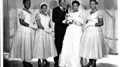 Nelson Mandela and Winnie Madikizela Mandela's wedding photo from 1958