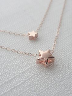 rose gold star necklace, by olive yew