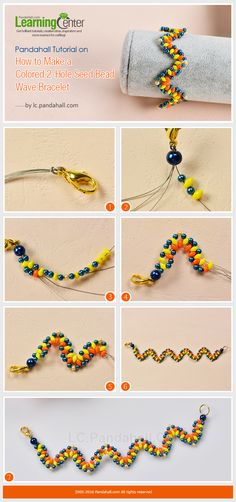 Do you love seed bead bracelets? In this article, you can see a unique colored seed bead wave bracelet. Read on to know how to make this colored bead wave bracelet. Making Bracelets With Beads, Seed Bead Bracelets, Beaded Jewelry Patterns, Bead Jewellery, Jewelry Making Tutorials, Bracelet Tutorial, Friendship Bracelet Patterns, Beads And Wire, Diy Earrings
