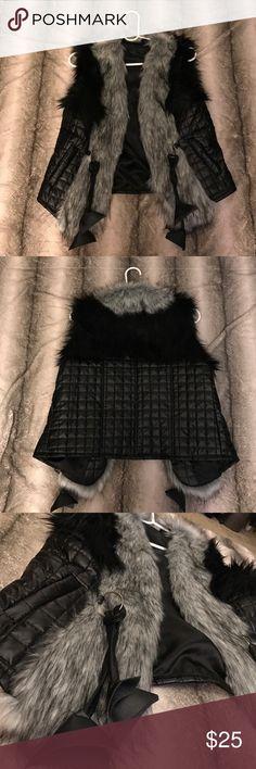 Fur vest Fur and faux leather vest, never worn before. Brand new no damage, no tags. Jackets & Coats Vests