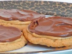 Just like my favorites from Cutlers... Double Frosted Peanut Butter Chocolate Cookies