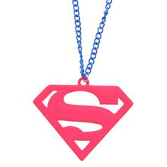 Supergirl Pendant Necklace