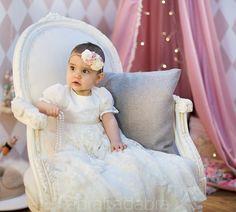 Sukienka do chrztu Diana ecru