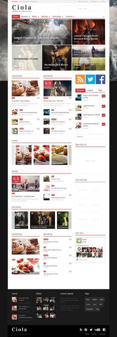 Ciola, WordPress Premium Responsive Magazine Theme