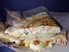 Quesadilla $12 Cheese,Chicken,Steak,Veggie,Tomatoes,Onions,Cilantro  side of side fries