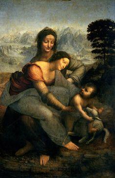 Virgin and Child with St Anne (circa 1508)  Leonardo da Vinci