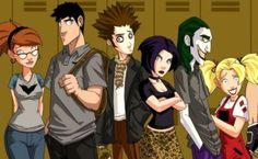 Concept Art for Unmade Batman Gotham High Animated Series Gotham High, In The Pale Moonlight, Arkham Asylum, Animation Series, Teen Titans, Harley Quinn, Concept Art, Anime, Joker