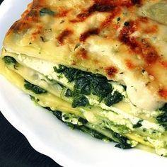 Lasaña de espinacas, receta vegetariana fácil