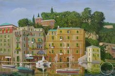 Boats in Portofino by Lucio Sollazzi