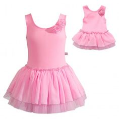 """""""Princess Pink"""" Dance Set with Matching Outfit for 18 inch Play Doll. Your cutie will be pretty in pink wearing this outfit to her dance classes."""