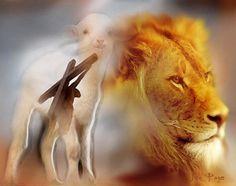 Lion and the Lamb~ Orginal Art by Jennifer Page At 4himpainting, Jennifer Page Fine Art America
