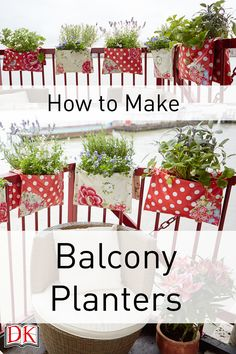 Downloadable pdf instructions for how to make balcony planters, perfect for gardening in a small space!
