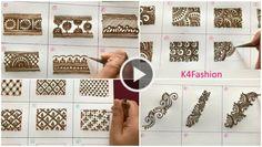 Learn Henna Mehndi Designs for Beginners - Kurti Blouse Full Hand Mehndi Designs, Stylish Mehndi Designs, Mehndi Design Pictures, Beautiful Mehndi Design, Latest Mehndi Designs, Mehndi Designs For Hands, Wrist Henna, Mehndi Video, Mehendi Simple