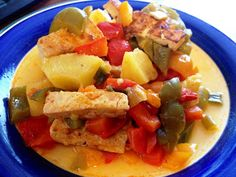 Green Guy Bruce Vegan Blog: Pineapple And Peppers Smokey Tofu Stir Fry