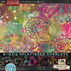 Art Journal Caravan 2012 {Parcel 31} By Tangie @ Scrapbookgraphics.Com
