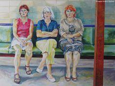 Lange Bank | Acryl auf Leinwand  160 x 120 cm | 2008