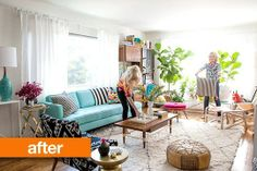 Before and After: Bri Emery's Living Room Makeover — Design Love Fest