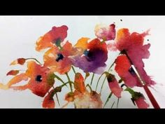 Loose Wet into Wet Watercolours with Andrew Geeson 'Poppies' Watercolor Poppies, Watercolor Video, Watercolor Painting Techniques, Watercolour Tutorials, Watercolor Artists, Painting Lessons, Watercolor Illustration, Watercolour Paintings, Time Painting