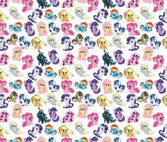 My Little Pony fabric by insomniac_designs on Spoonflower - custom fabric
