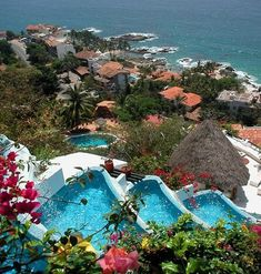 Ocho Cascadas resort in Puerta Vallarta  http://www.ochocascadas.com/