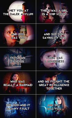 """Clara Oswin Oswald: The Impossible Girl. She was born to save The Doctor. """"Run you clever boy, and remember!"""""""