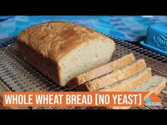 In this video learn how to make a Whole Wheat Bread without Yeast. This bread is a no-knead, no proofing bread, and needs no bread machine and can be pr. Rock Crock Recipes, Nut Recipes, Other Recipes, Vegetarian Recipes, Snack Recipes, Cooking Recipes, Bread Without Yeast, No Yeast Bread, No Knead Bread