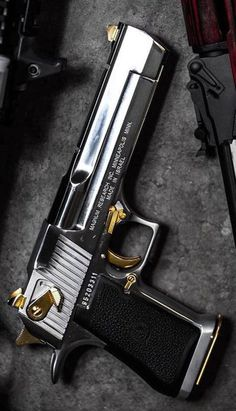 Magnum Research Desert Eagle Mark XIX Desert Eagle AE is a gas-operated, semi-automatic pistol with a 7 round capacity in AE and 8 round . 44 Magnum, Desert Eagle, Weapons Guns, Guns And Ammo, Armas Wallpaper, Magnum Research, Custom Guns, Weapon Concept Art, Military Guns