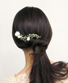 Rigorosamente...Sposa bridal hairpiece boho style
