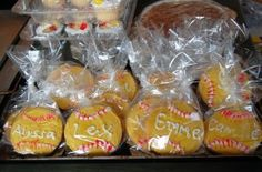 Personalized softball party cookies. Change the frosting to fit your sport!