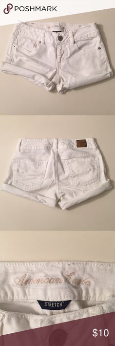 White Jean Shorts American Eagle white jean shorts in good condition!! American Eagle Outfitters Shorts Jean Shorts