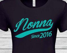 189e0307 Nonna (any year ) Gifts for grandma Italian Nonna , Grandmother Nonna since  tshirt , Nonna Christmas gift , Nonna gift idea , Nonna Shirt