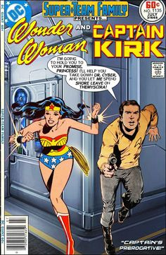Super-Team Family: The Lost Issues!: Wonder Woman and Captain Kirk