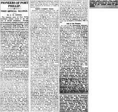Captain Lonsdale's Census of Port Phillip 1836 Article Writing, Guy Names, Family History, Victoria, Australia, Free