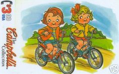 Campbells Soup Kids On Bicycles phonecard
