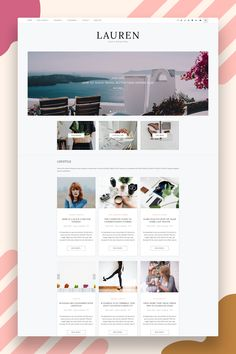 Lauren – Clean & minimal blog! Easy installation allows you to start post blogs immediately after the activation. Theme supported Customizer which allows you to customize and change design of your blog. Perfect choice for your personal blog, corporate blog, marketing blog, authority blog or any type of creative blog. #blogwordpresstheme #wordpressblog #wordpresstemplate