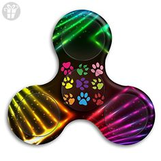 Colorful Paw Prints Dog Cat Tri-Spinner Hand Fidget Stress Reducer Finger Toy Gyro For Kids & Adults - Fidget spinner (*Amazon Partner-Link)