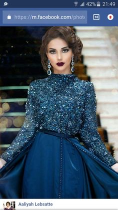 Love the make- up, but the dress is making me 🤢🤮 Morrocan Dress, Moroccan Caftan, Hijab Evening Dress, Evening Outfits, Traditional Fashion, Traditional Dresses, Hijab Fashion, Fashion Dresses, Oriental Dress