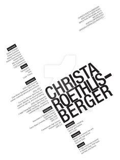 Typographic Resume by mac1388