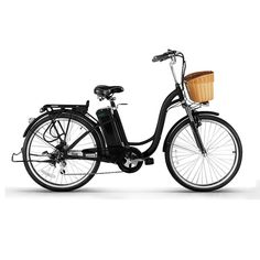 Electric Bicycle,Shufua 26 Inch 6 Speed 25km/h Woman City Electric Bicycle ,36V 250W Low-Carbon Eco-friendly Electric Bikes with Pedal Assist and Sensitive Brake System Black. Shipping from America.Easy Way to trip: Commuters won't arrive to work sweaty and out of breath. You will burn calories and get more exercise on an electric bicycle. Low-Carbon Environmental Protection: Fresh electric car: an electric car, to meet different needs, go out transport, leisure and entertainment, relax...