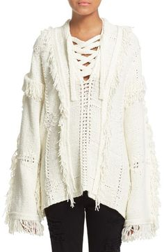 3.1 Phillip Lim Heritage Stitch Fringe Poncho available at #Nordstrom