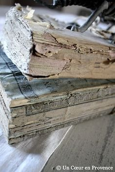 I adore stacks of old, weathered books