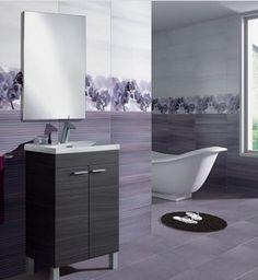 Mueble de baño redondo con puerta y lavabo de resina | Muebles para ...
