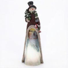 Light-Up Scenic Snowman Statue - FREE SHIP Continental 48 USA