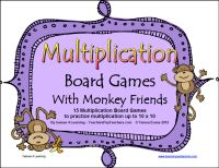 If the kids need to practice multiplication facts, they will love these math board games from Games 4 Learning. They are printable math games that practice multiplication up to 10 x 10. $