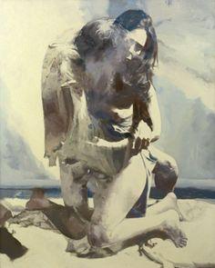 Woman and Man by the Sea — Balcomb Greene, 1974  http://pinterest.com/darleenwither92/fun-hair/