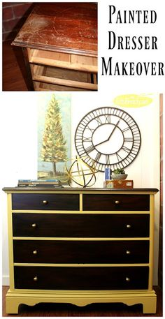ART IS BEAUTY: Updating a dresser with General Finishes Java Gel and Paint