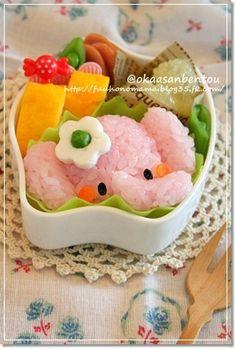 It would be hard to eat it since it's so adorable. Funny Food, Food Humor, Cute Food, Kawaii Bento, Cute Bento, Amazing Food Art, Incredible Edibles, Bento Ideas, Bento Recipes